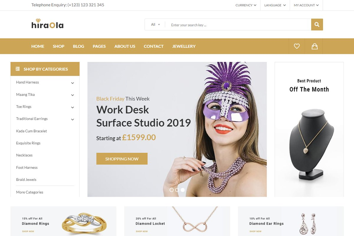 Hiraola - eCommerce HTML Template