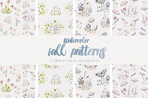 Watercolor Fall Patterns