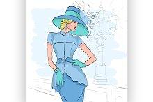 Model fashion sketch