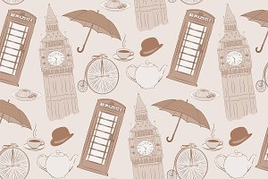 Retro Vector hand drawn London