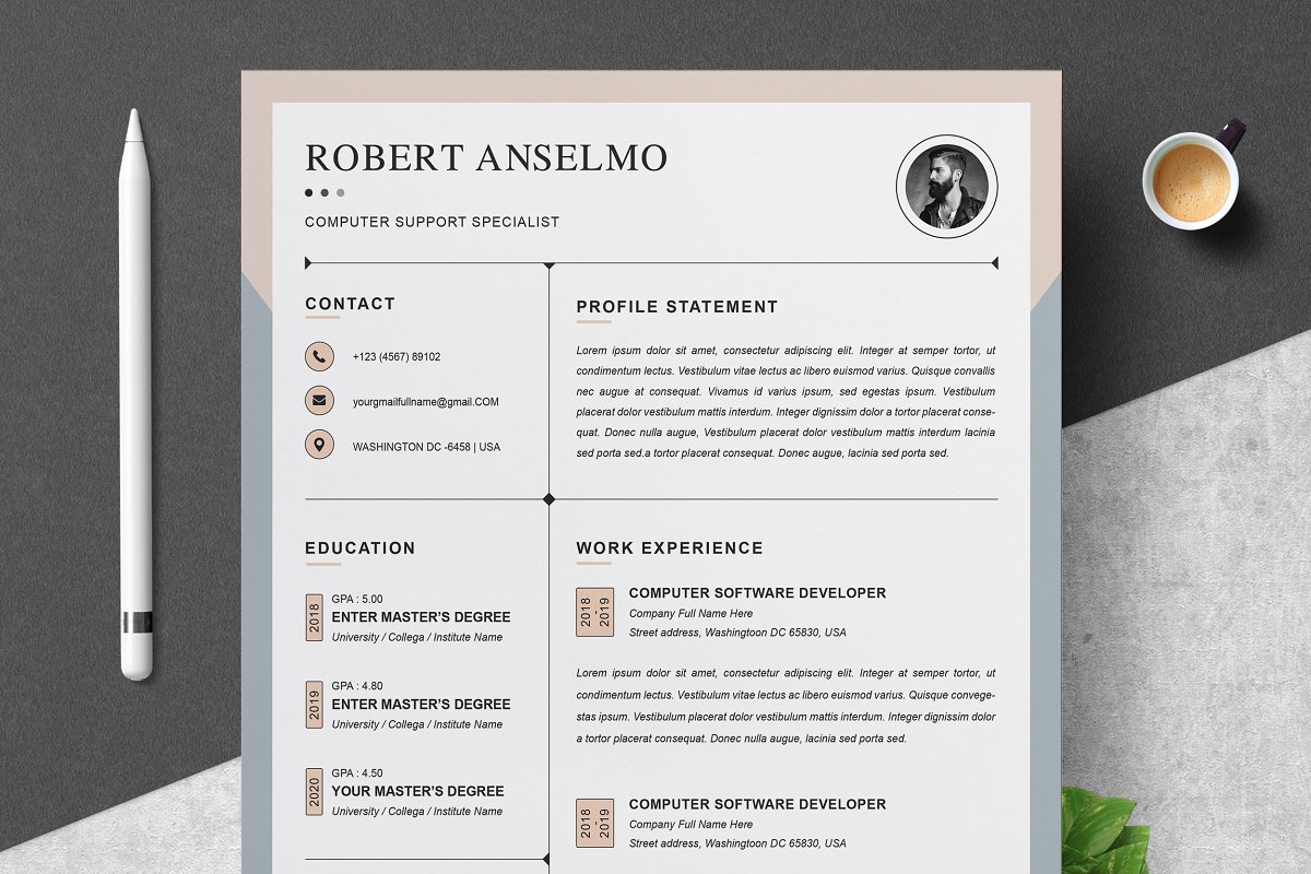 Resume Template Cv Design Template Resume Templates