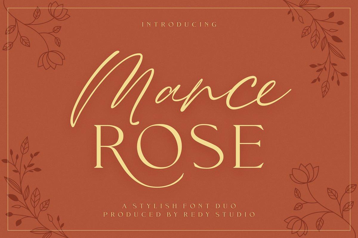 FontDuo   Mance Rose