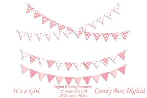 Baby Girl Digital Bunting Garland
