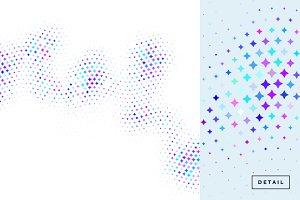 Wave Stars Halftone Pattern