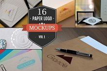 16 Awesome Paper Logo Mockups Vol. 1