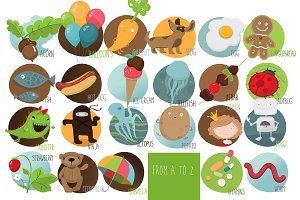 'Kids alphabet' vector set