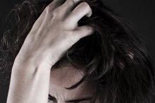 depressed woman closeup