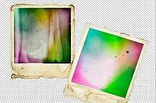 Polaroid photo frames PNG