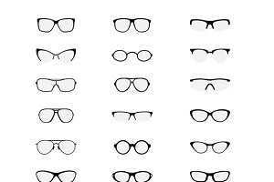 Sunglasses Vector set