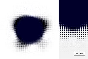 Circle Halftone Design Element