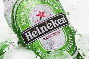 Heineken cold beer can