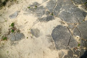 Cracked and sandy ground texture