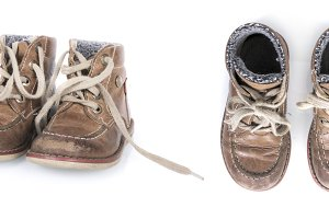 isolated toddler boys shoes