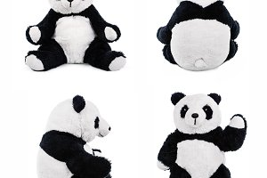 Stuffed panda teddy bear