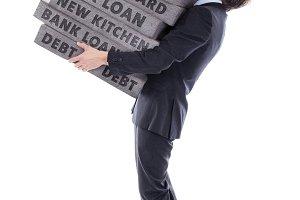 businessman with debt