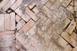 Old wooden blocks ground texture