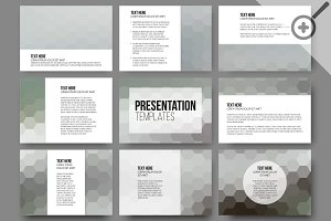 Set of 45 templates for slides
