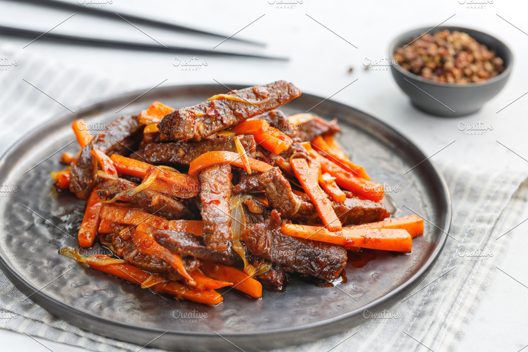 Chinese spicy Szechuan beef