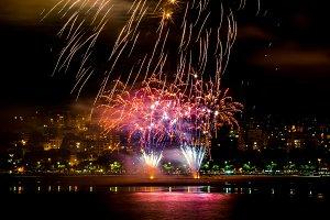 Fireworks explosion detail