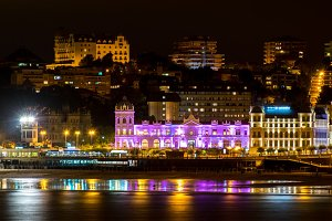 Great Casino of Santander iluminated