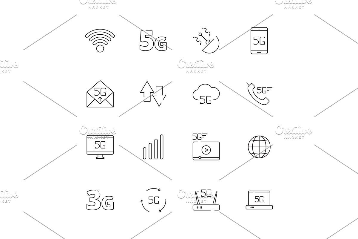 5g  Network icon free wireless