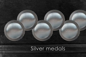 17 silver medals of finance concept