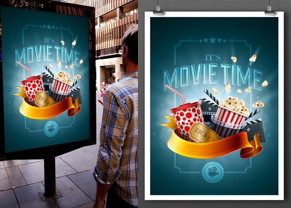 Free Variable Poster Mockup Template