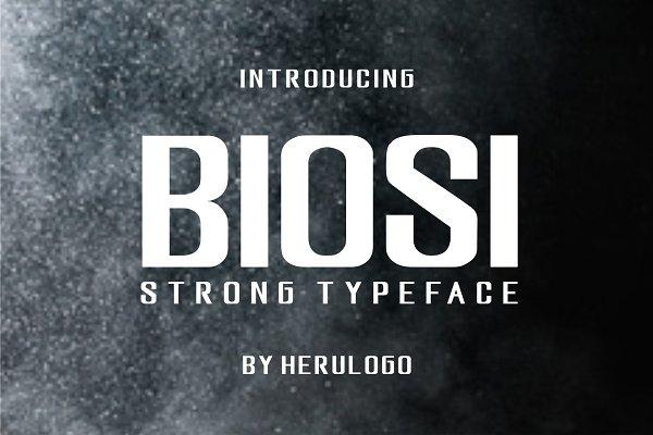 BIOSI typeface