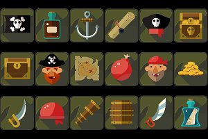 Pirate Vector game set