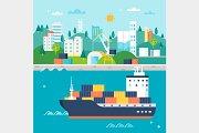 Cargo Shipping and Storage Set