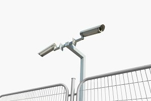 Security cameras isolated
