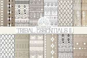 TRIBAL ESSENTIALS II digital paper