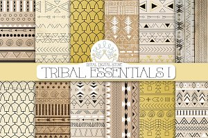 TRIBAL ESSENTIALS I digital paper