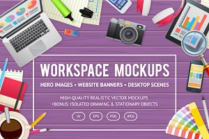 Workspace Mockups & Elements