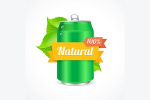 Aluminum Can Natural Concept. Vector