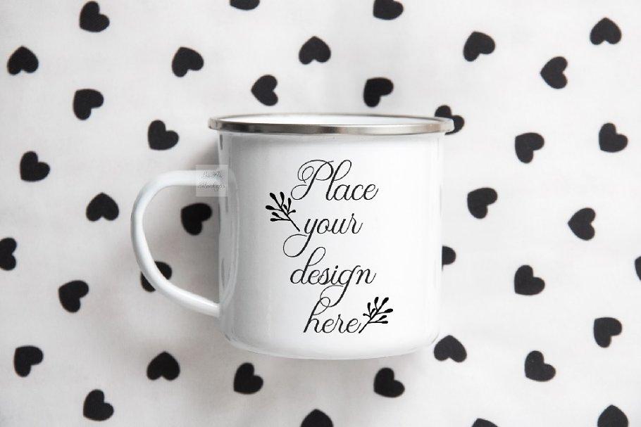Enamel tin mug mockup sublimation