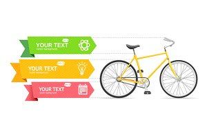Bike Option Banner. Vector