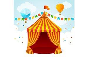 Circus Card. Vector