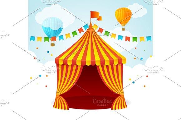 Circus Card. Vector - Illustrations