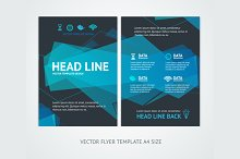 Flyer Design Templates Abstract Wave