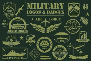 Military template, logos