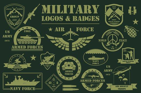 military template logos illustrations creative market