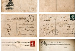 Antique french postcard PNG+JPG