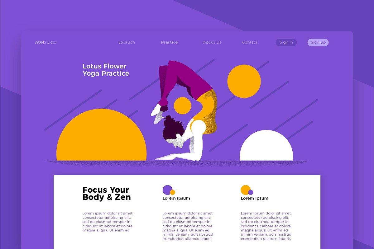 Yoga Lotus - Banner & Landing Page