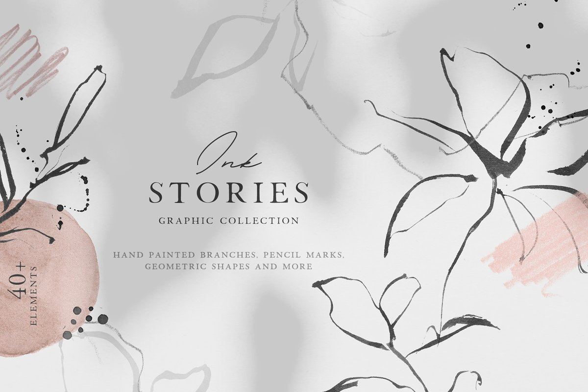 Ink Stories - Abstract Botanical Set