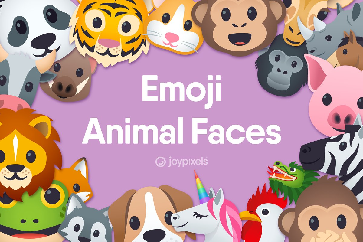 Emoji Animal Faces by JoyPixels®