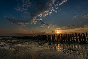 Sundown at beach