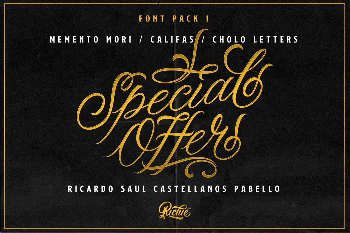 Special Offer x Font Pack 1