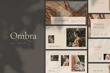 Ombra - UI Kit and Web Theme by  in Websites