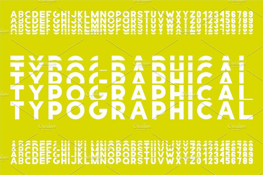 Creative sliced english alphabet